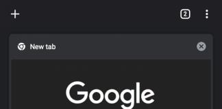 beta di Google Chrome